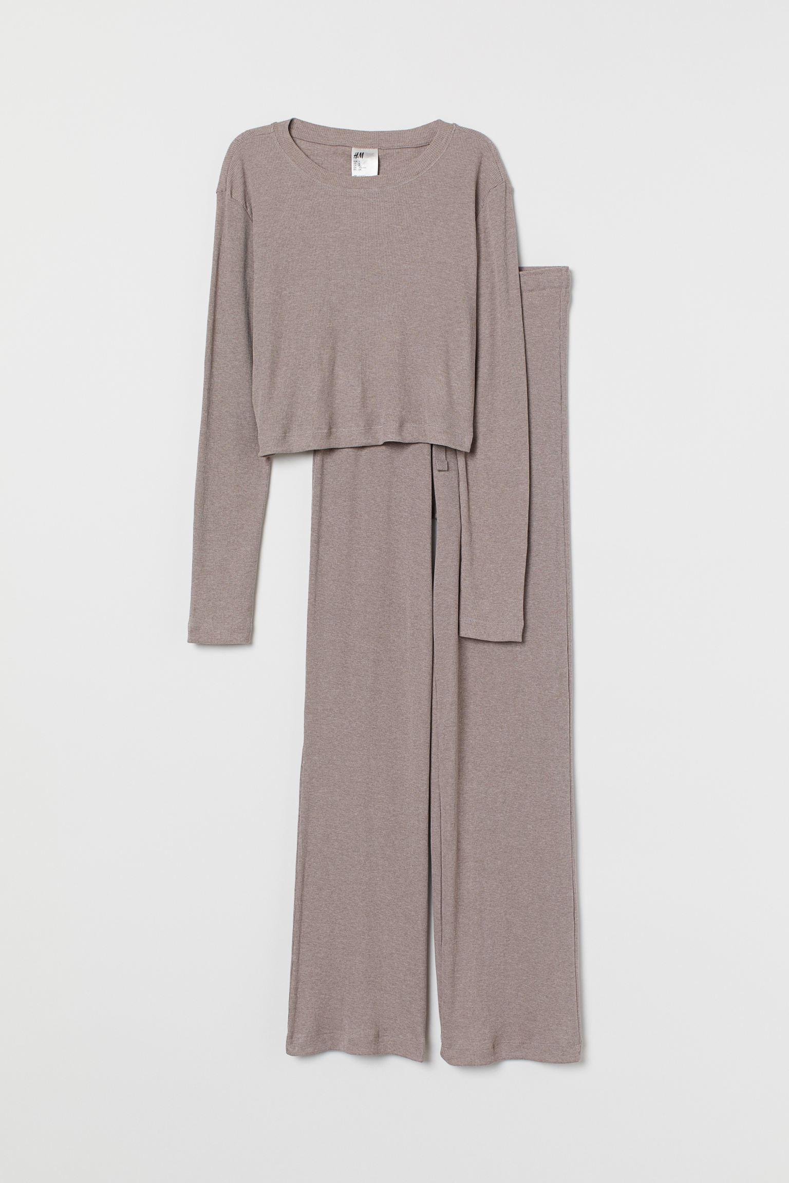 H&M Ribbed Jersey Pajamas