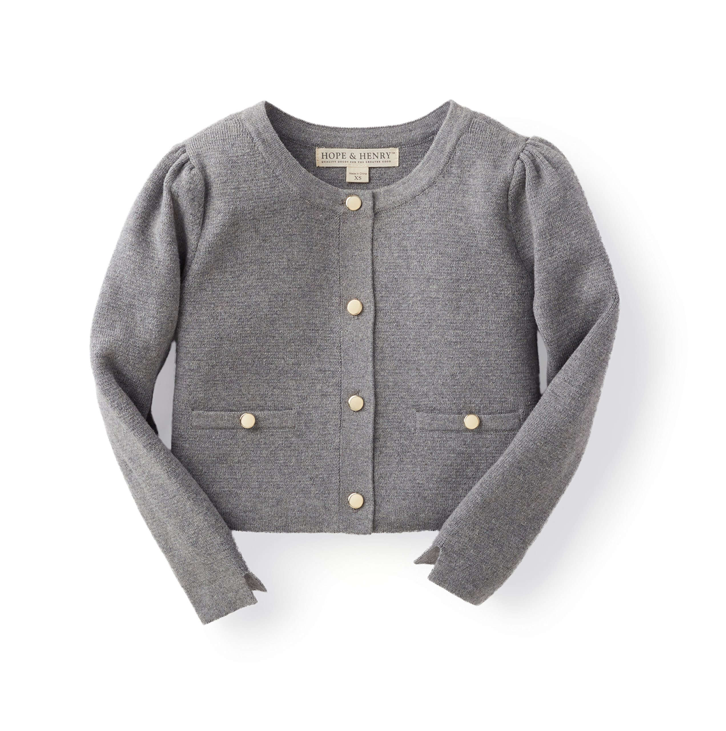 Hope & Henry Girls Milano Stitch Cardigan Sweater