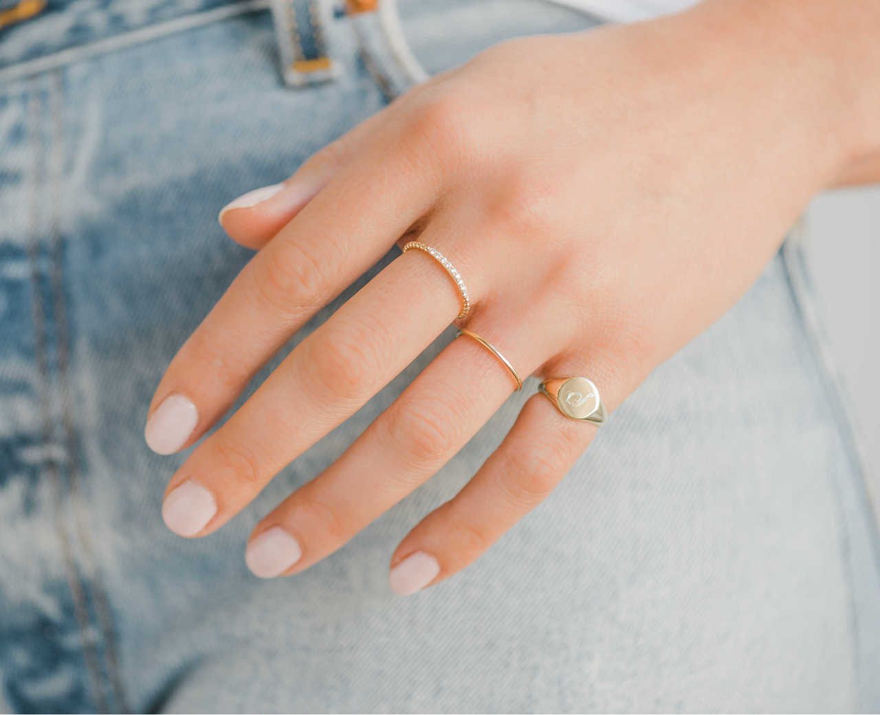 Zoe Lev 14k Gold Small Engravable Signet Ring Weekly Finds + The Prettiest Way to Dress Up Your Holiday Looks for Under $8