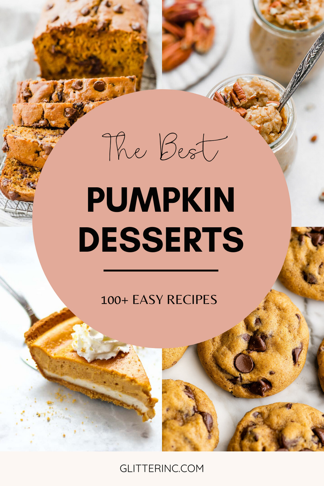 The Very Best of Pumpkin Desserts - More Than 100 Easy Recipes - that everyone loves - for all of your Fall Baking   @glitterinclexi   GLITTERINC.COM