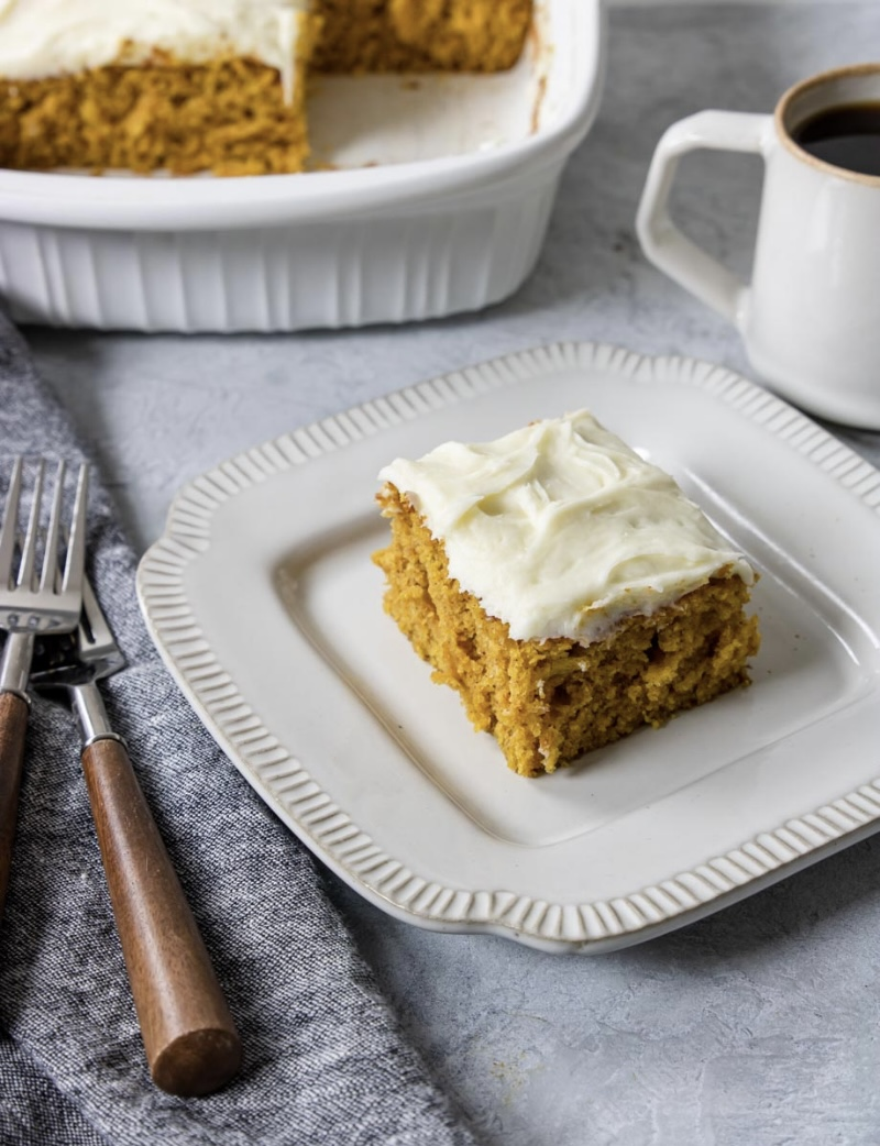 Classic Pumpkin Bars with Cream Cheese Frosting