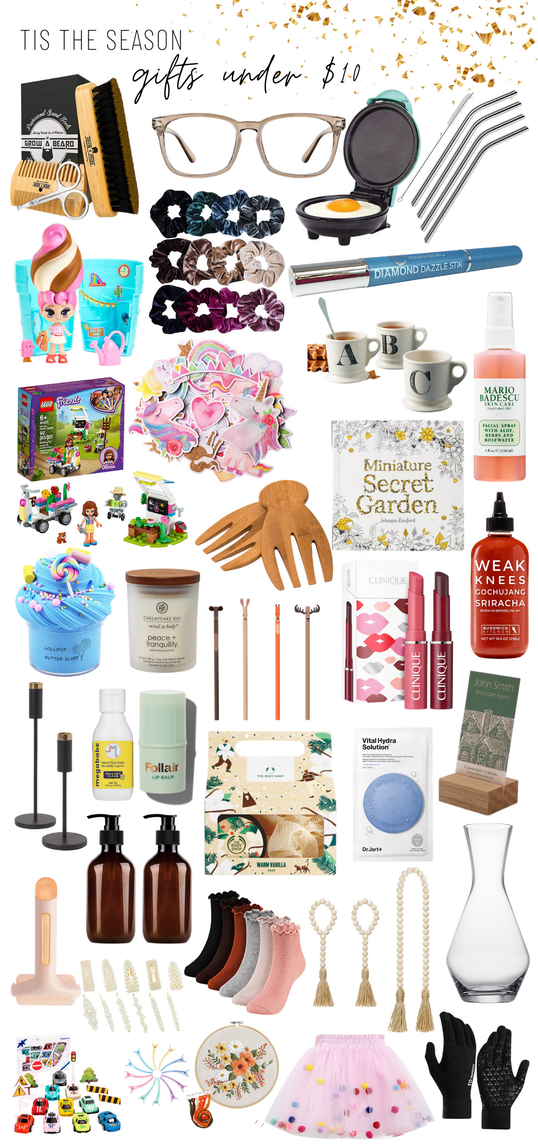 Holiday Gift Guide Gifts Under 10 Glitter Inc