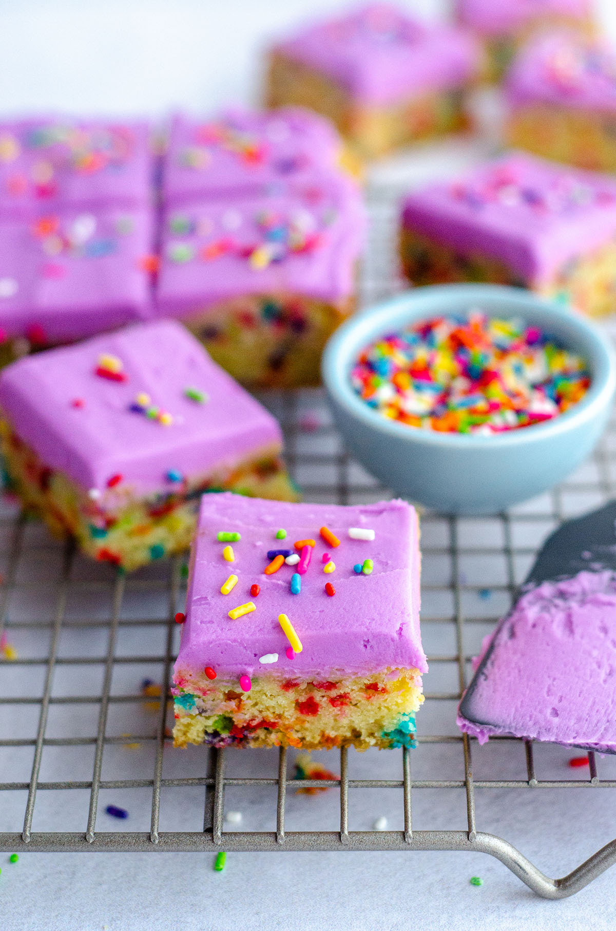 Frosted Funfetti Sugar Cookie Bars