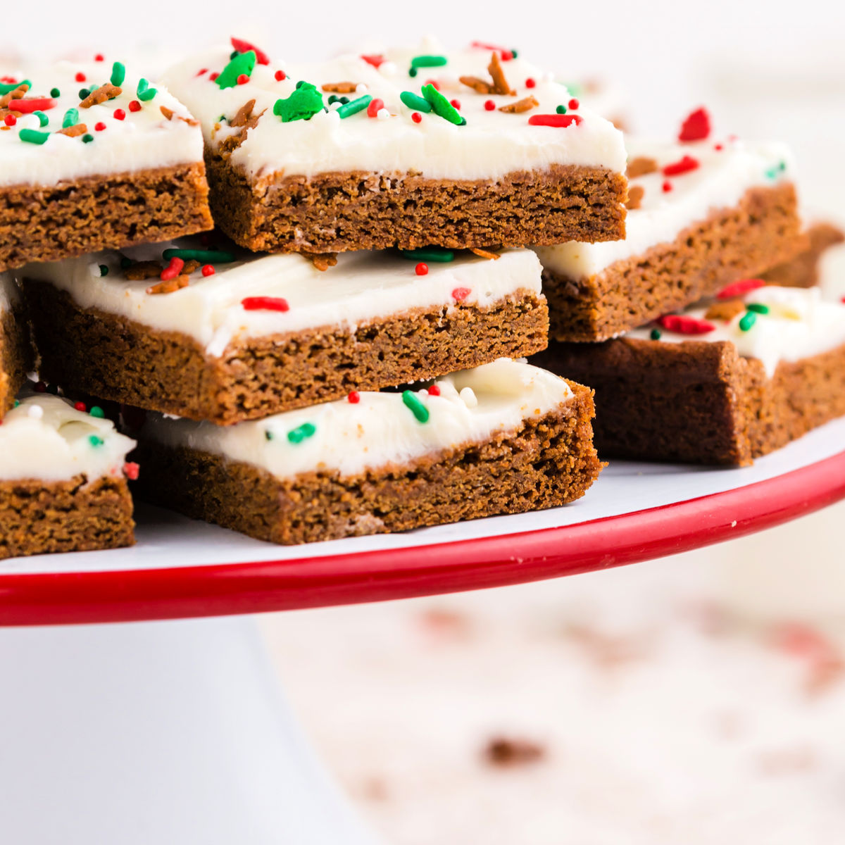 40+ Amazing Cookie Bars Recipes | Chewy Gingerbread Cookie Bars