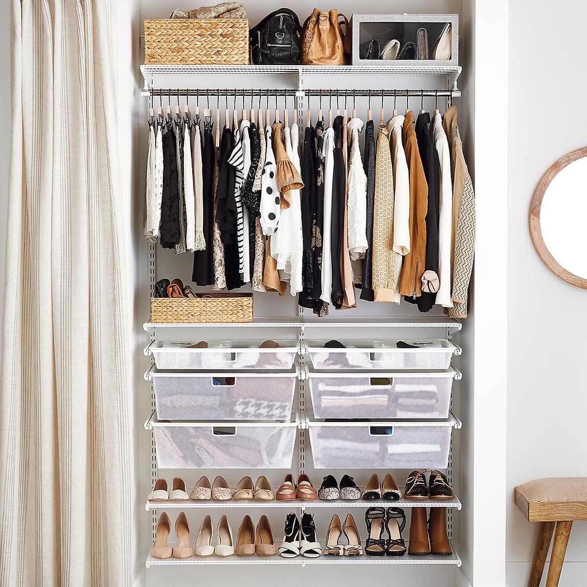 Elfa Classic White Reach-In Closet