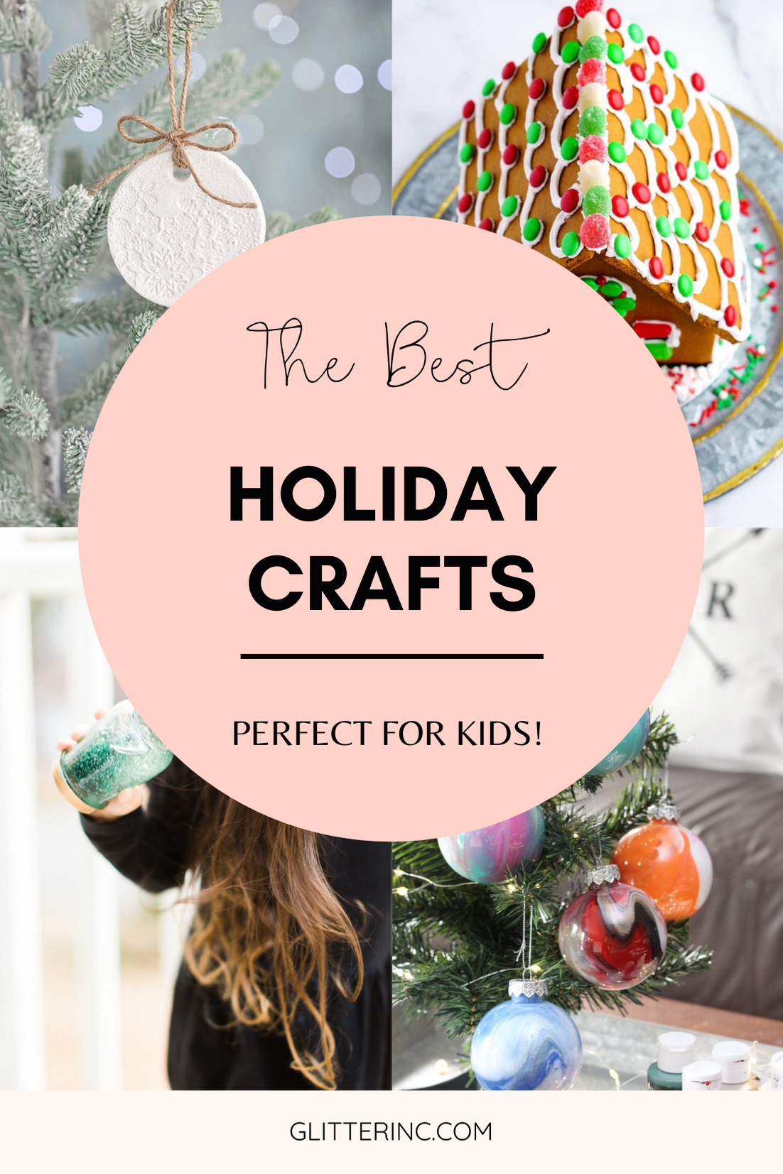 Get crafting with your kids this holiday season and make one of these 6 nostalgic and fun holiday crafts even young kids can pitch in on! These winter and Christmas crafts are sentimental and make for the sweetest keepsakes to use for years to come. | @glitterinclexi | GLITTERINC.COM