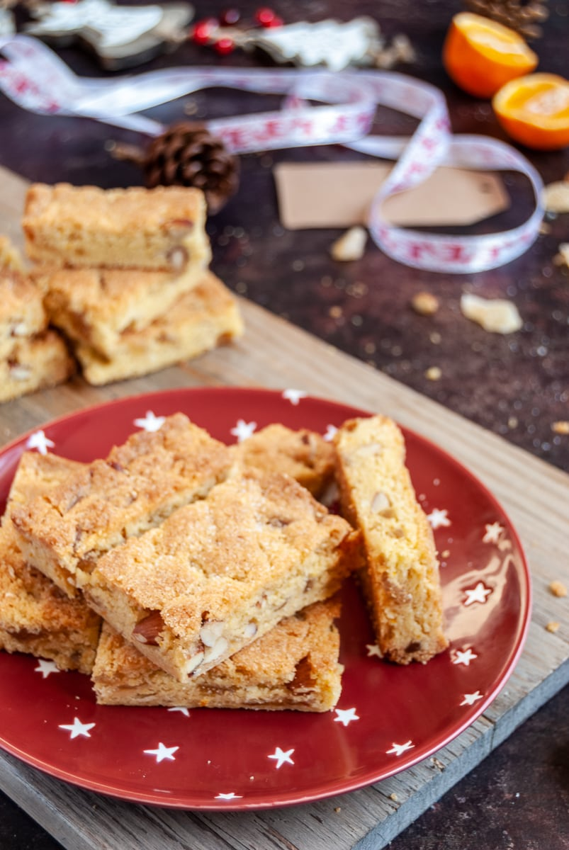 chewy orange ginger and almond bars