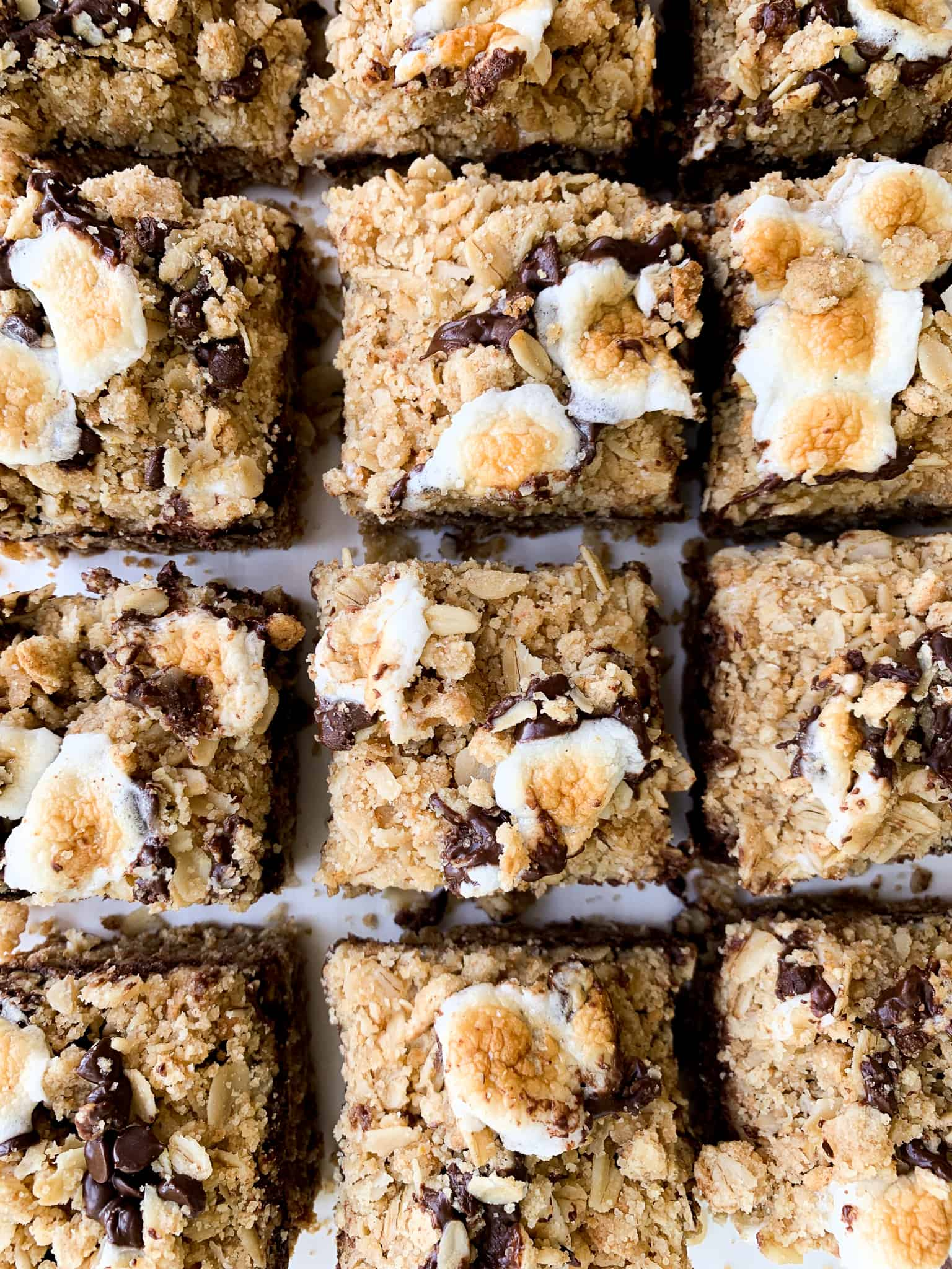 Whole Wheat Oatmeal S'mores Cookie Bars