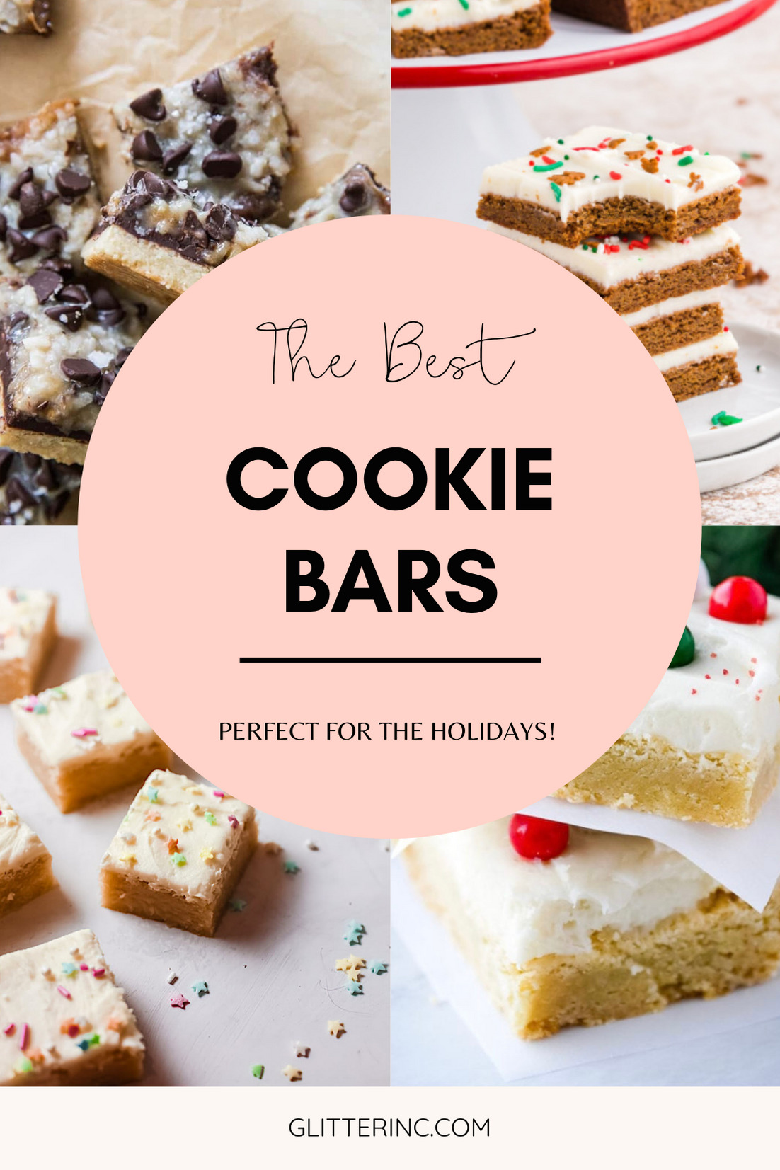 Looking to bake up a batch of delicious cookies but short on time? Here are more than 40 recipes for the best easy cookie bars! Bonus: cookie bars are perfect to bake during the holidays, especially when you want to bake Christmas cookies in big batches! | @glitterinclexi | GLITTERINC.COM
