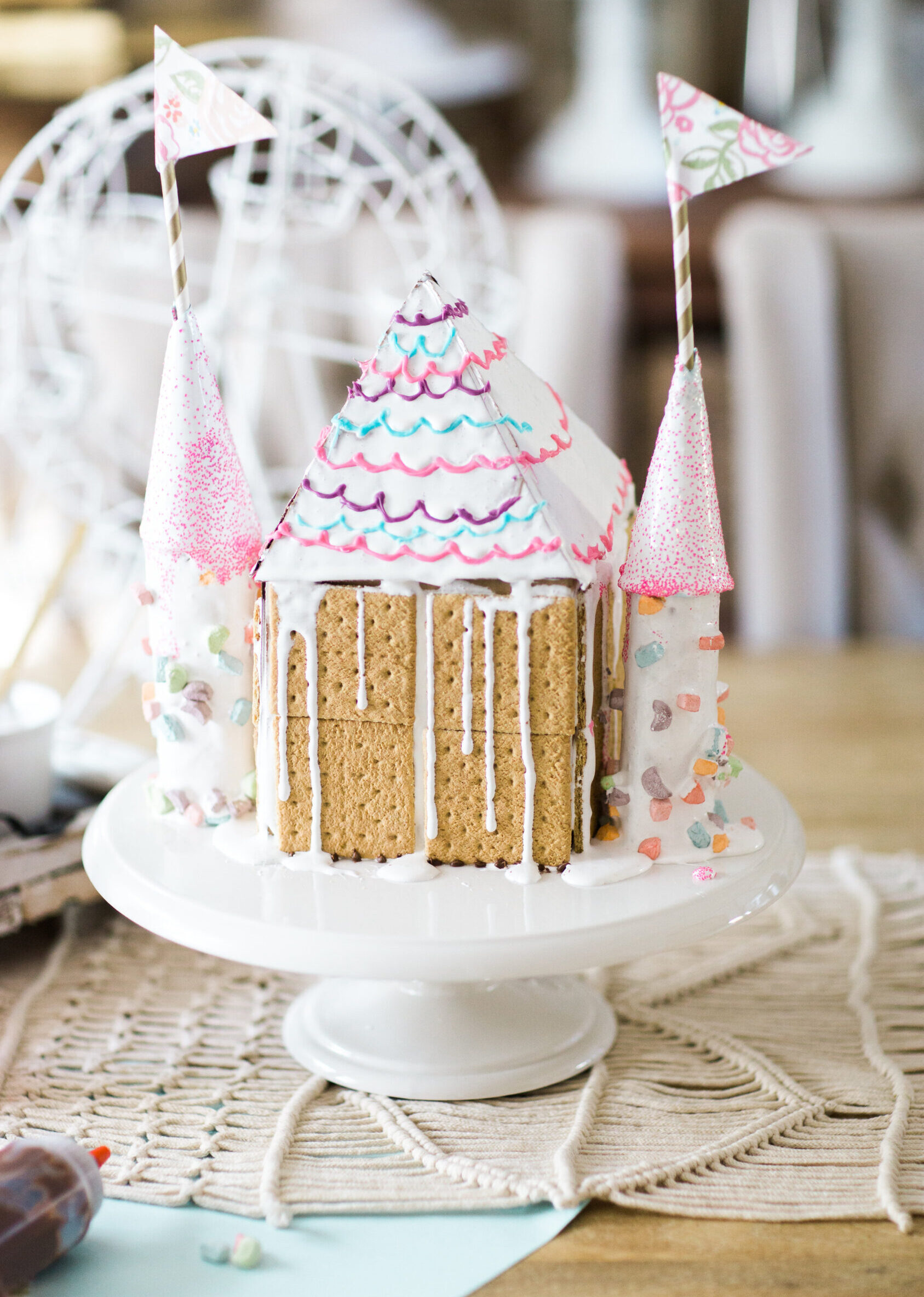 "S'mores Graham House ""Castle'' Gingerbread House"