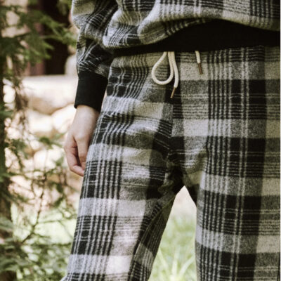 The Great The College Sweatshirt and Sweatpant in Lumber Plaid