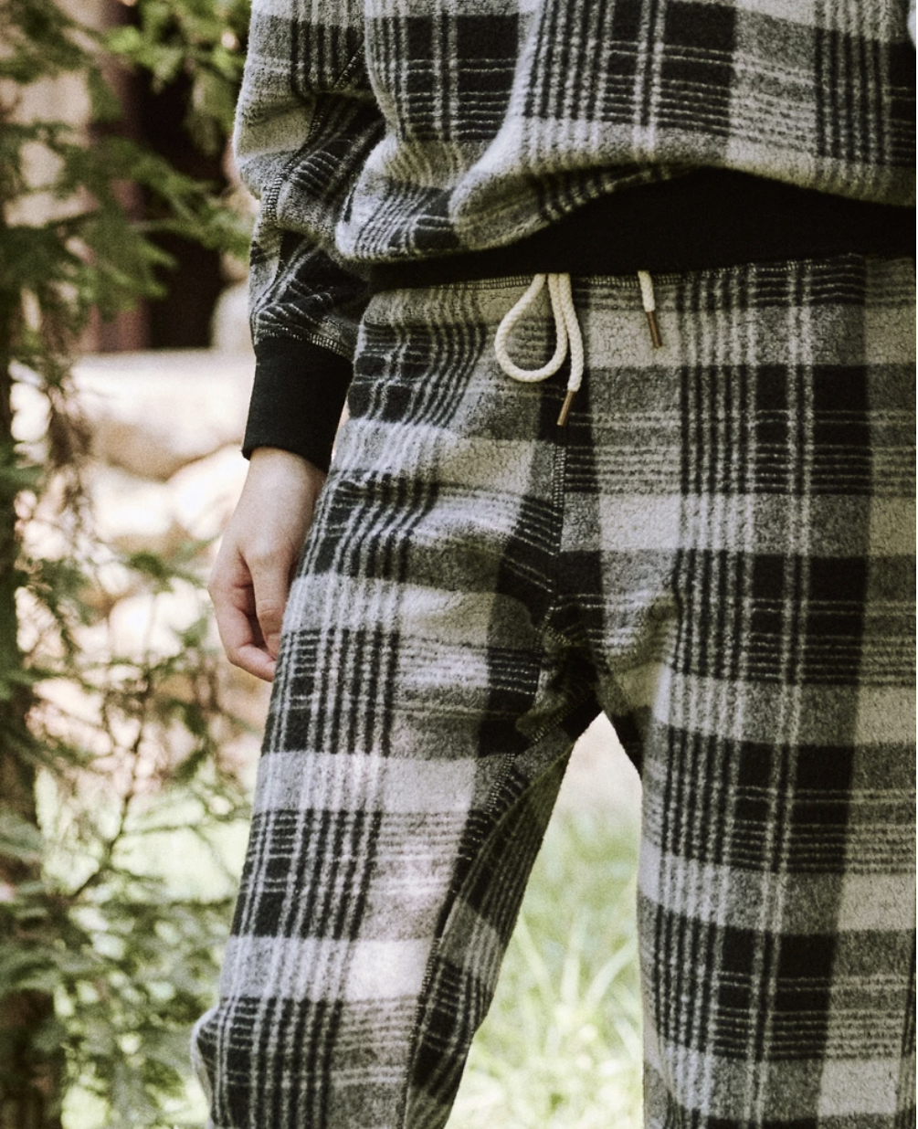 Jessica Alba's Holiday Sweats   The Great The College Sweatshirt and Sweatpant in Lumber Plaid