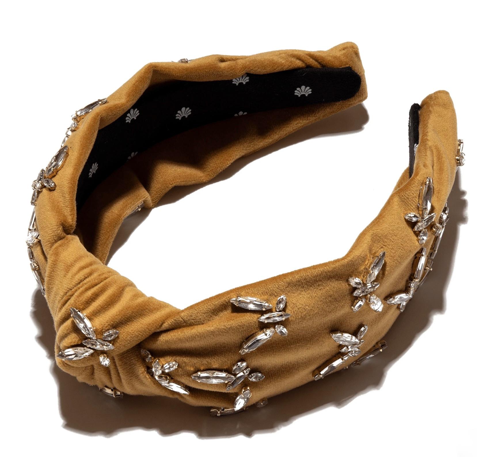 Lele Sadoughi Butterfly Jeweled Velvet Knot Headband