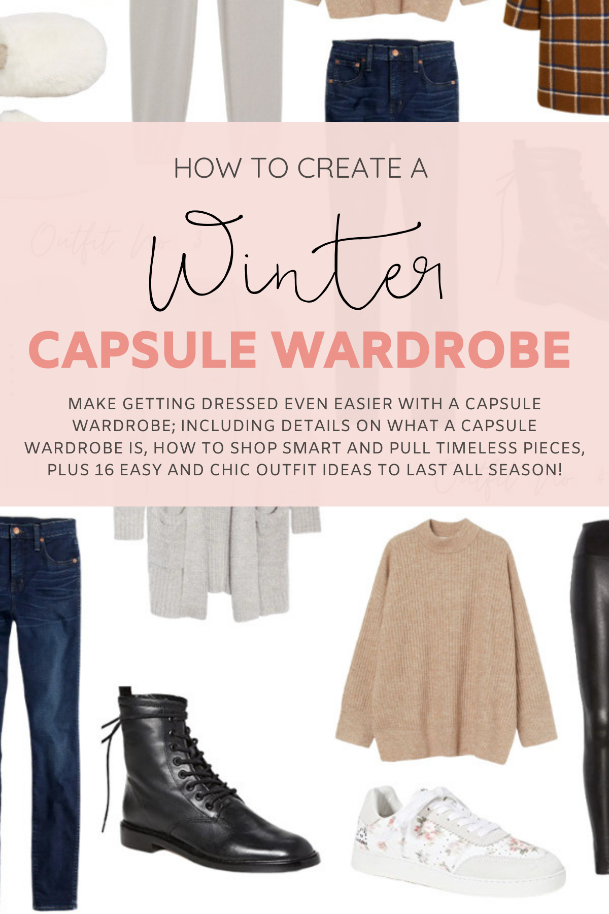Wearable Winter Capsule Wardrobe - Plus so many outfit combinations styled from the same curated collection! | @glitterinclexi | GLITTERINC.COM