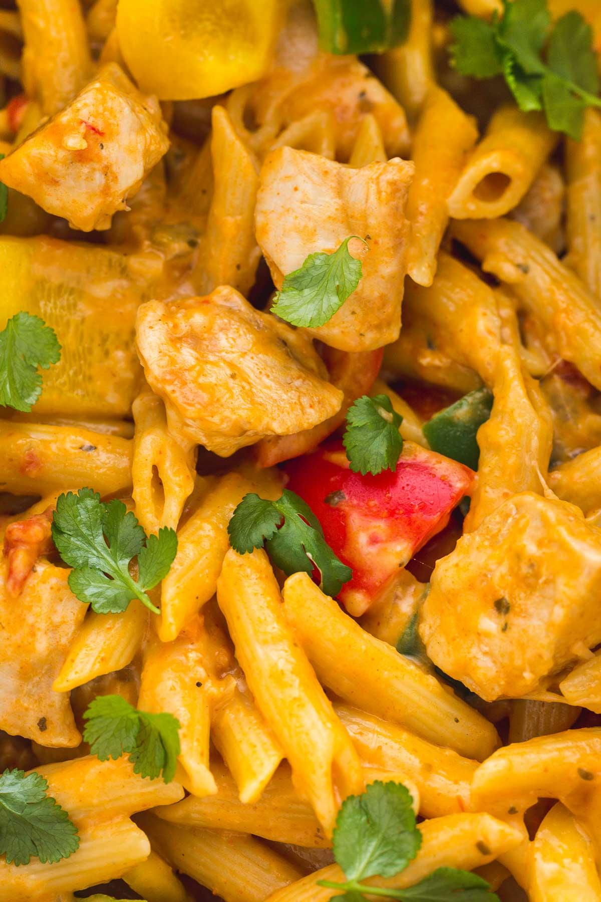 Instant Pot Chicken Fajita Pasta Recipe
