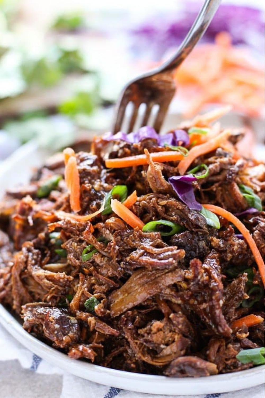 65 Easy Instant Pot + Crockpot Dinner Recipes | Crockpot Asian Shredded Pork