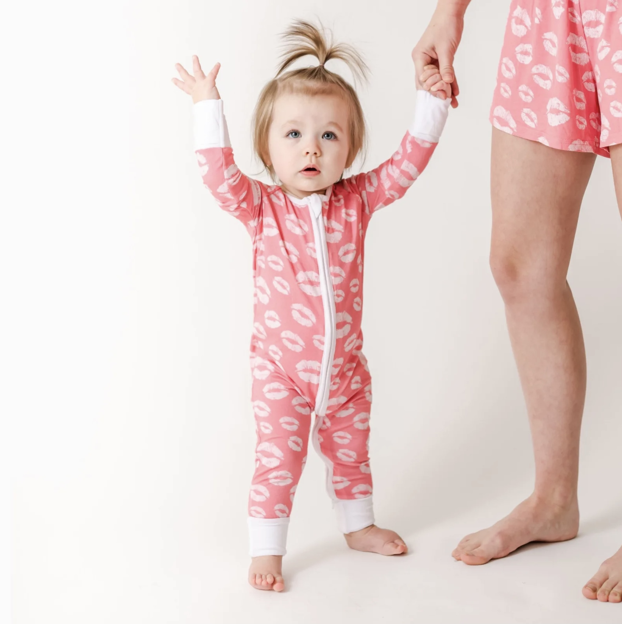 Little Sleepies Pink Kisses Baby & Toddler Bamboo Viscose Pajamas