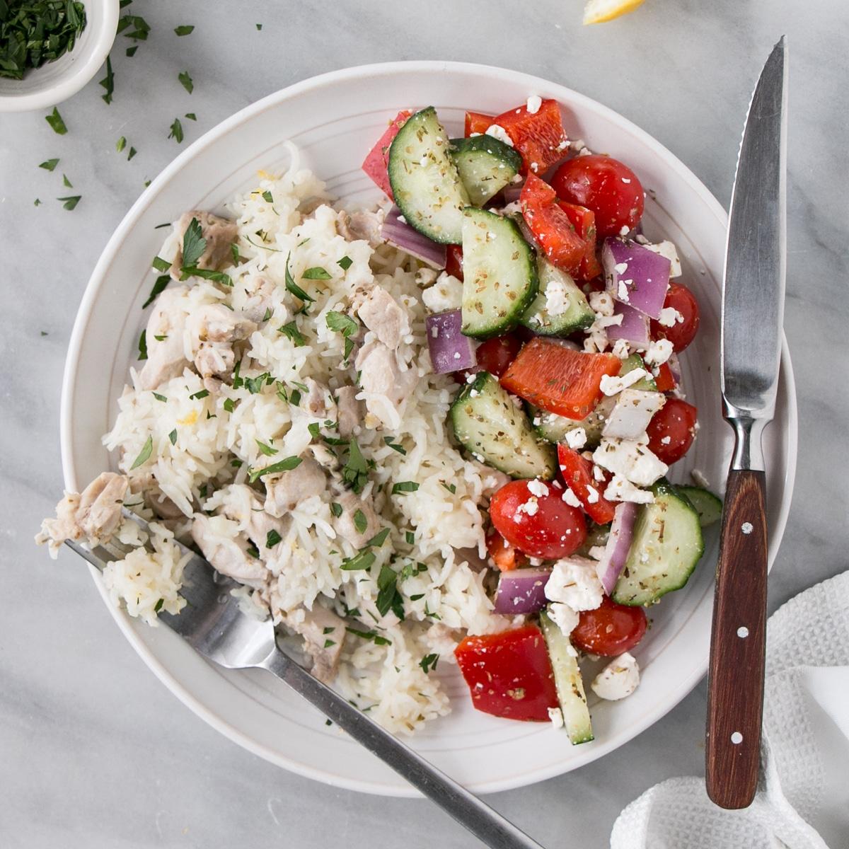 65 Easy Instant Pot + Crockpot Dinner Recipes | Greek Instant Pot Chicken and Rice recipe