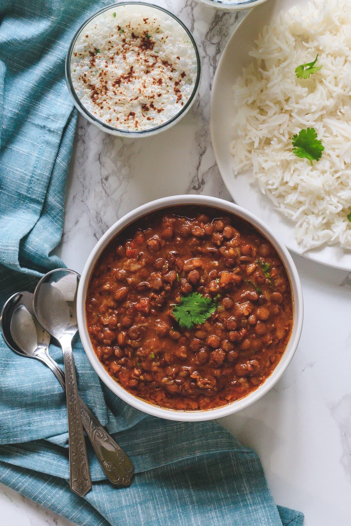 Whole Masoor Dal (Instant Pot Lentil Curry)