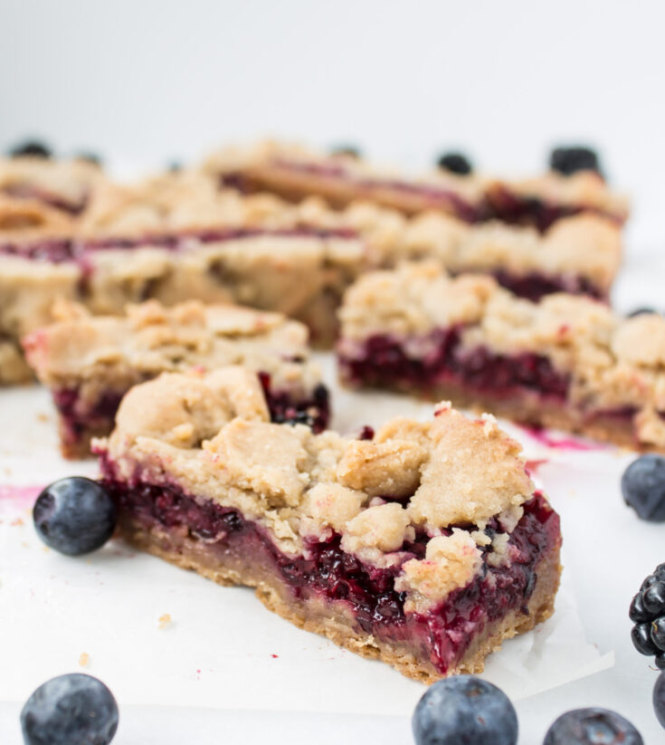 Blackberry and Blueberry Pie Bars