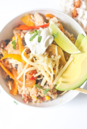 Instant Pot Loaded Chicken Fajita Bowls