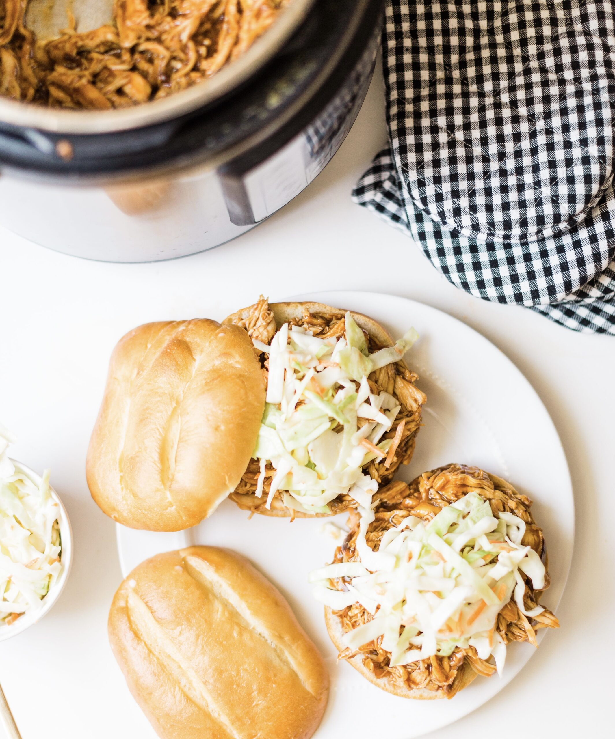 The Easiest Slow Cooker or Instant Pot BBQ Pulled Chicken