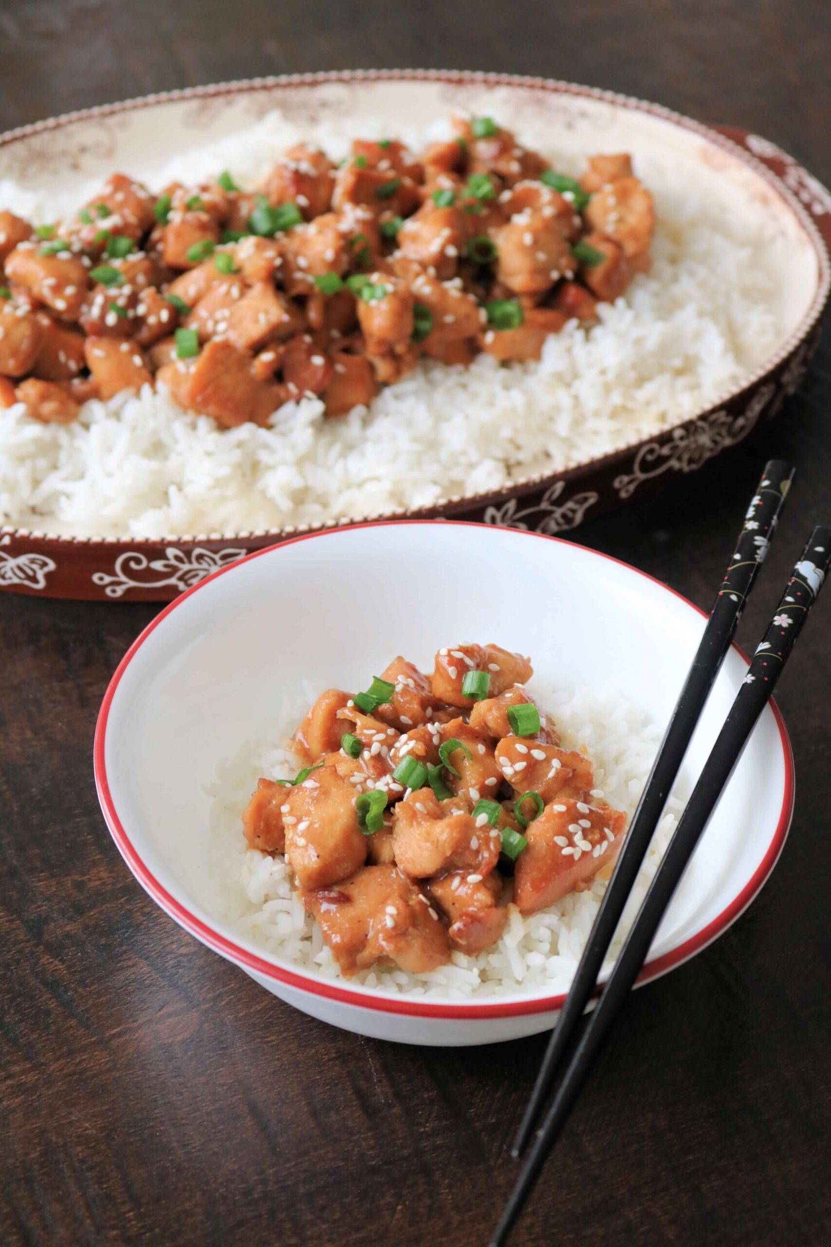 Slow Cooker Honey Sesame Chicken