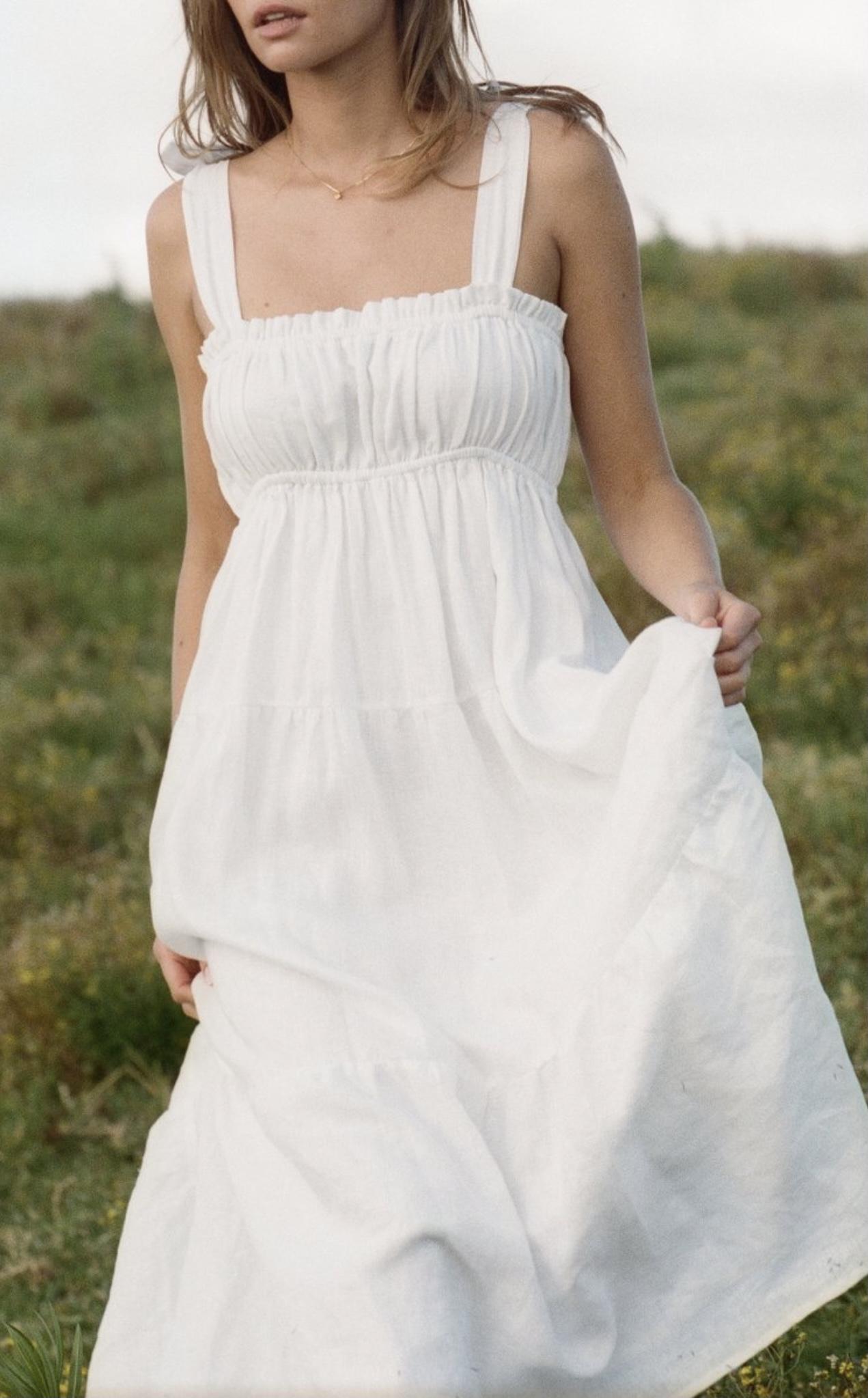 Faithfull The Brand Bellamy Linen Midi Dress
