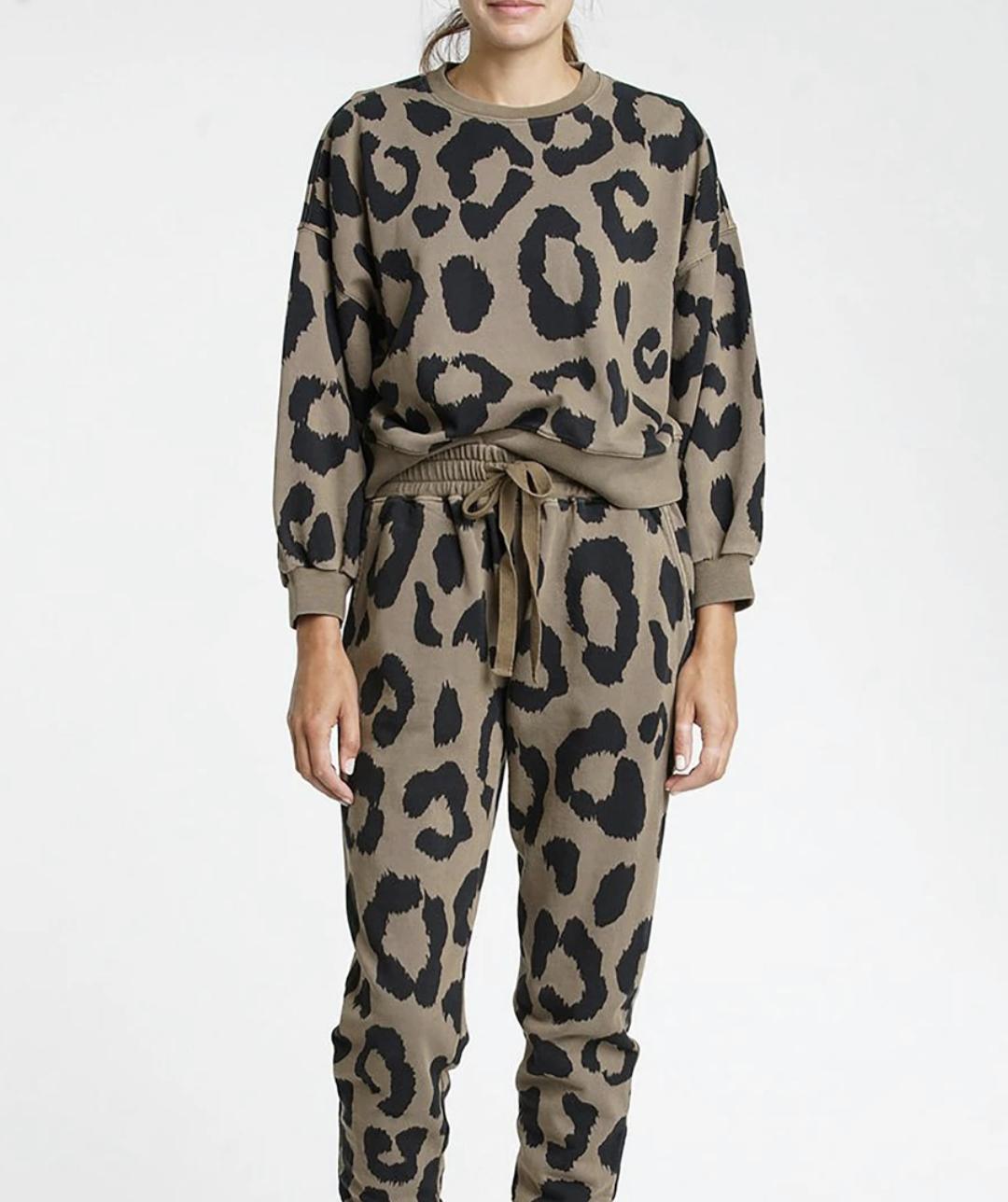 Pistola Misha Leopard Print Sweatshirt