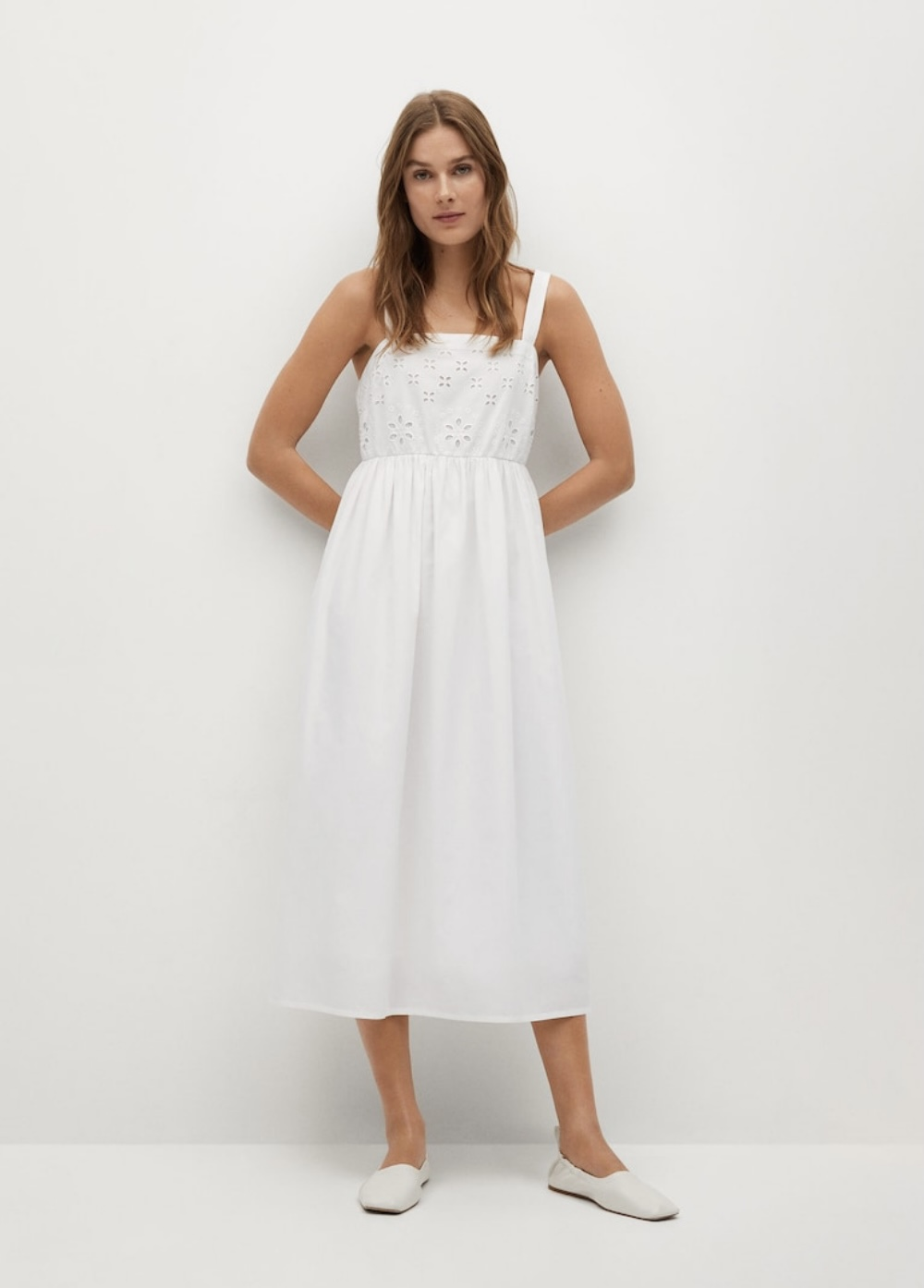 Mango Openwork Cotton Dress