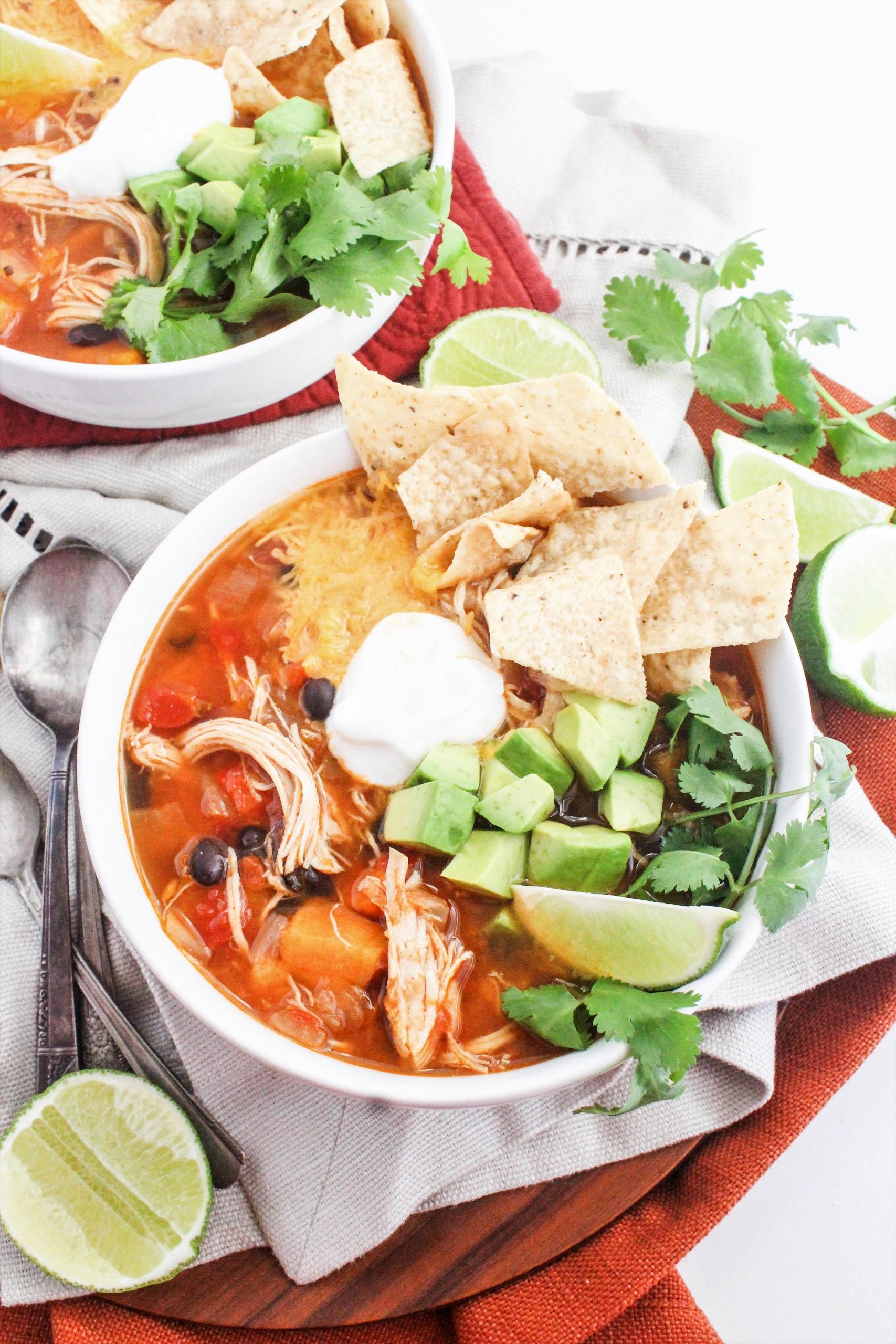 65 Easy Instant Pot + Crockpot Dinner Recipes | Instant Pot Chicken Tortilla Soup Recipe