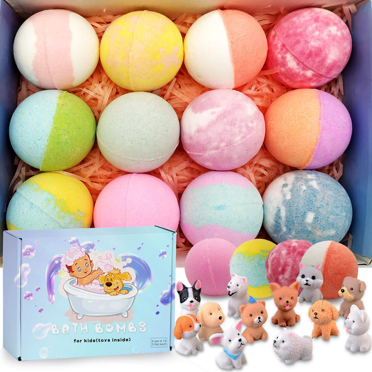 Organic Bath Bombs Fizzies for Kids with Toys Inside