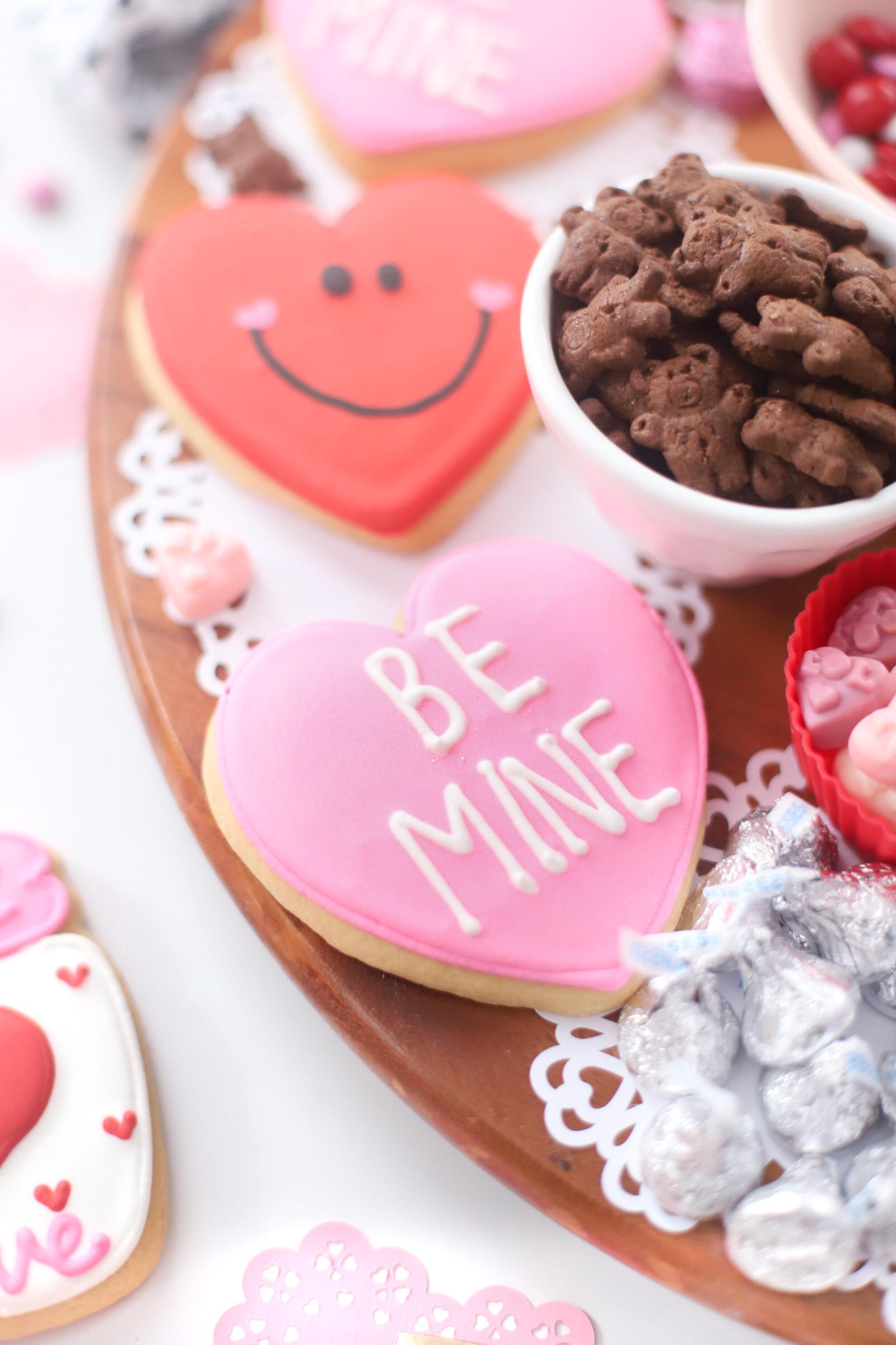 big be mine heart cookie