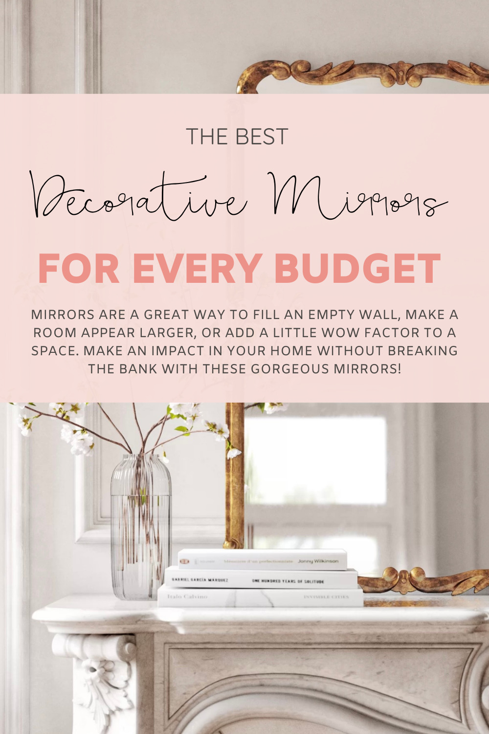 Mirrors are a great way to fill an empty wall, make a room appear larger, or simply add a little wow factor to a space. Make an impact in your home without breaking the bank with these gorgeous decorative mirrors! | @glitterinclexi | GLITTERINC.COM