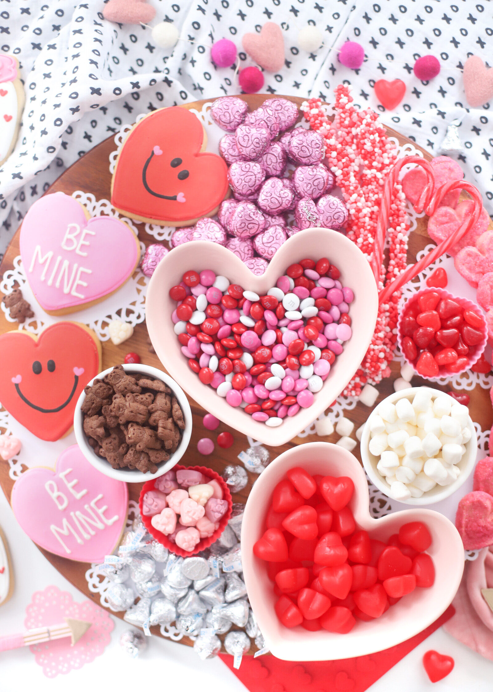 no-bake desserts spread for hearts day