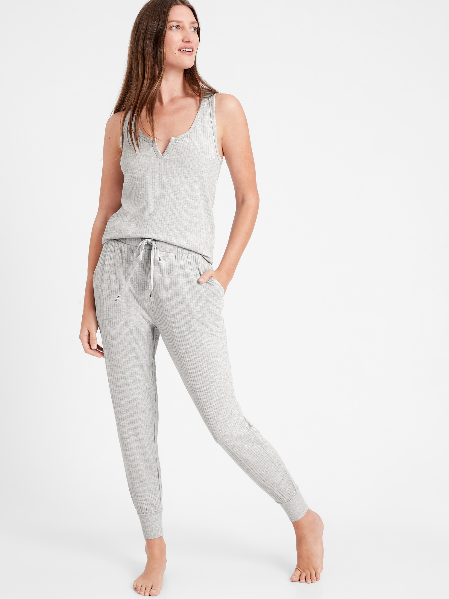 Banana Republic Ribbed Pajama Tank and Jogger | Weekly Finds + The Most Amazing Floral Cuticle Oil