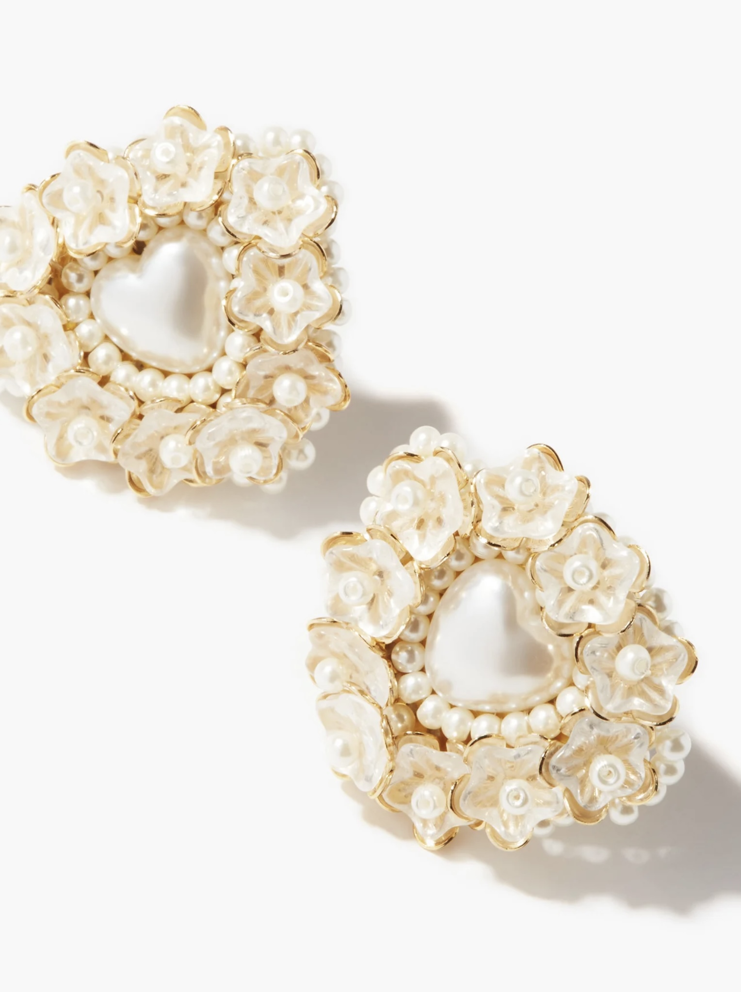 SHRIMPS Heidi Pearl Clip Earrings