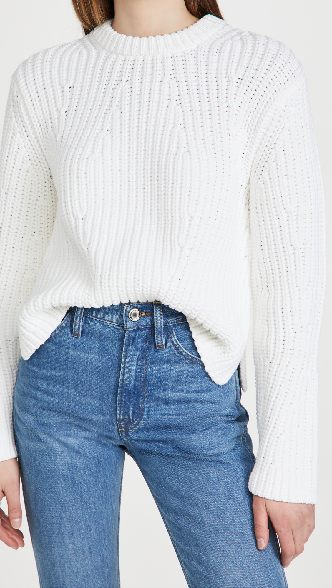 Vince Mirrored Rib Pullover Sweater