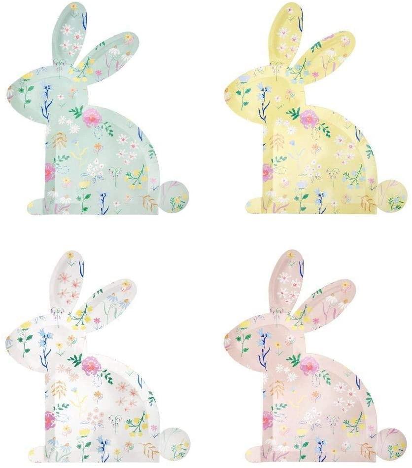 Luck and Luck Meri Meri Pastel Wildflower Bunny Plates | My New Healthy Hair Secret Weapon