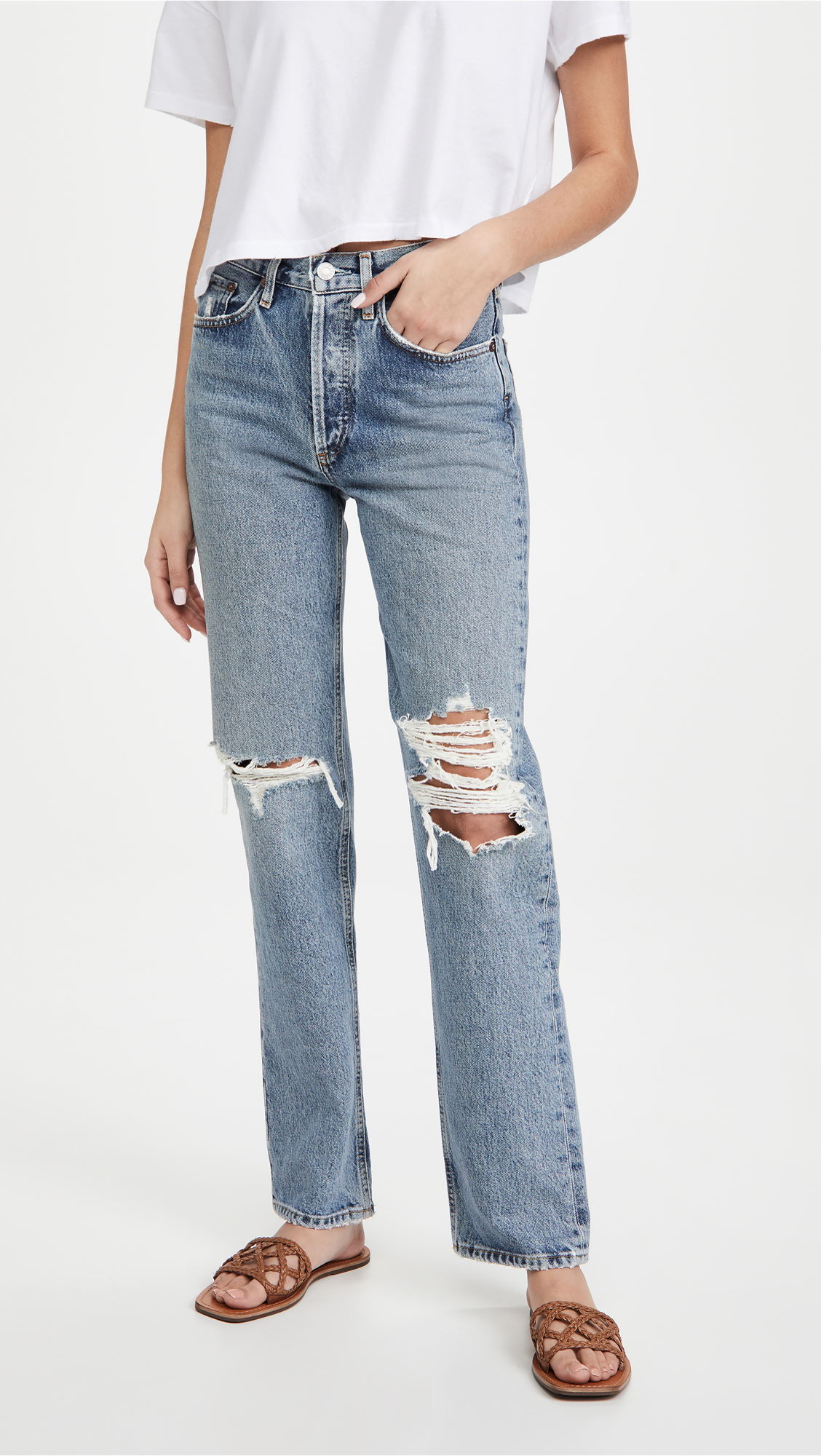 AGOLDE Lana Mid Rise Vintage Straight Jeans   A Few Must-Have Spring Accessories