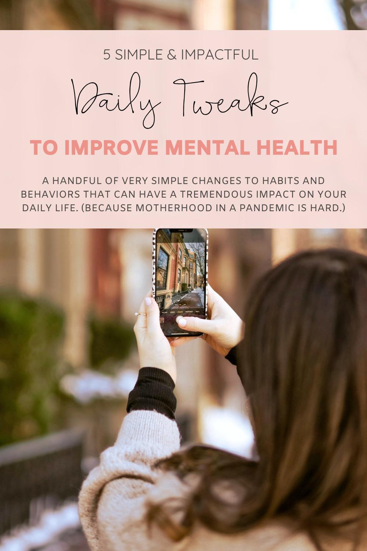 5 Simple Yet Impactful Ways to Improve Daily Mental Health - Motherhood - Self Care | @glitterinclexi | GLITTERINC.COM