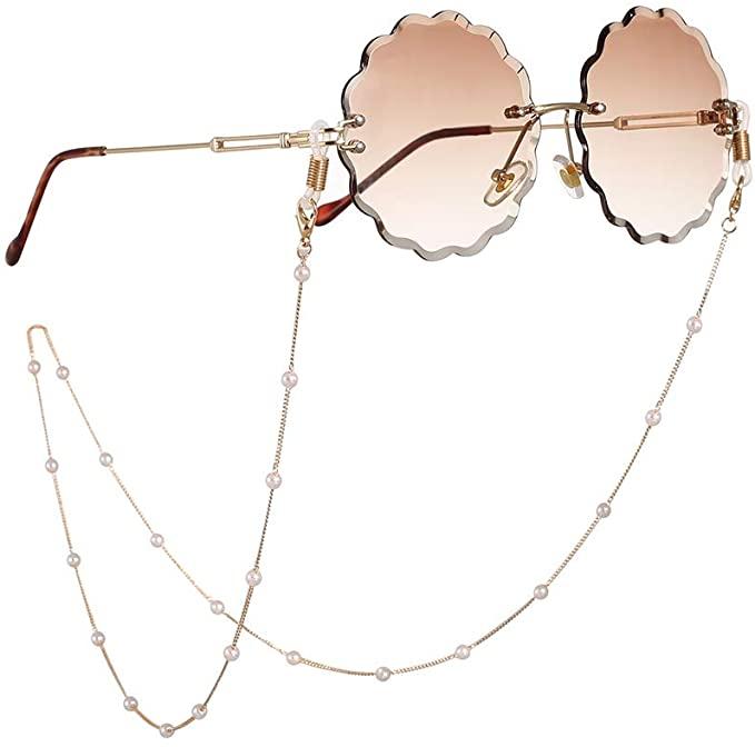 Eyeglass Chains Glasses Reading Eyeglasses Holder Strap Cords Lanyards - Eyewear Retainer for Women