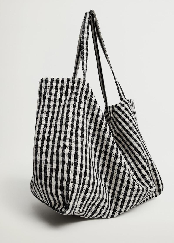 Mango Gingham-Check Fabric Shopper Bag | My New Healthy Hair Secret Weapon