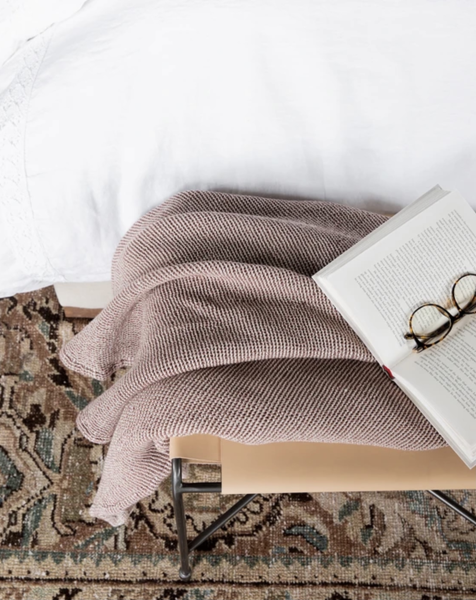 Little Love Notes + Reading This Weekend - A New and Amazing Book // McGee and Co. Whitby Woven Throw
