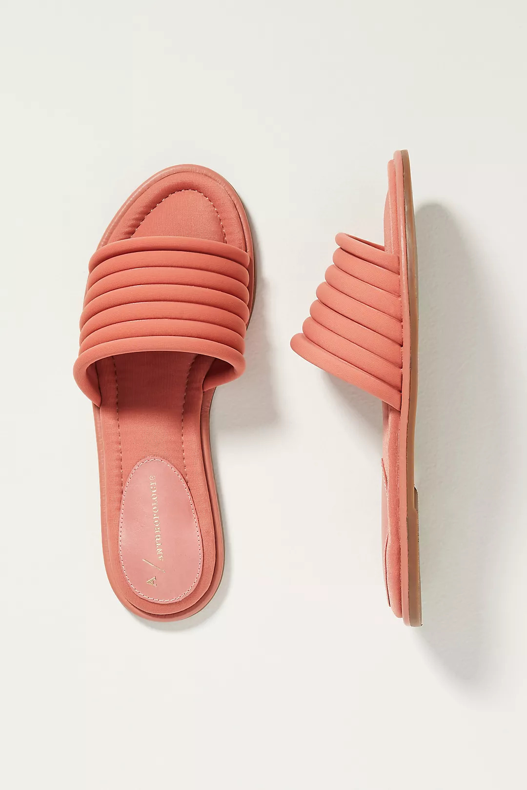 Anthropologie Ilana Puffy Slide Sandals