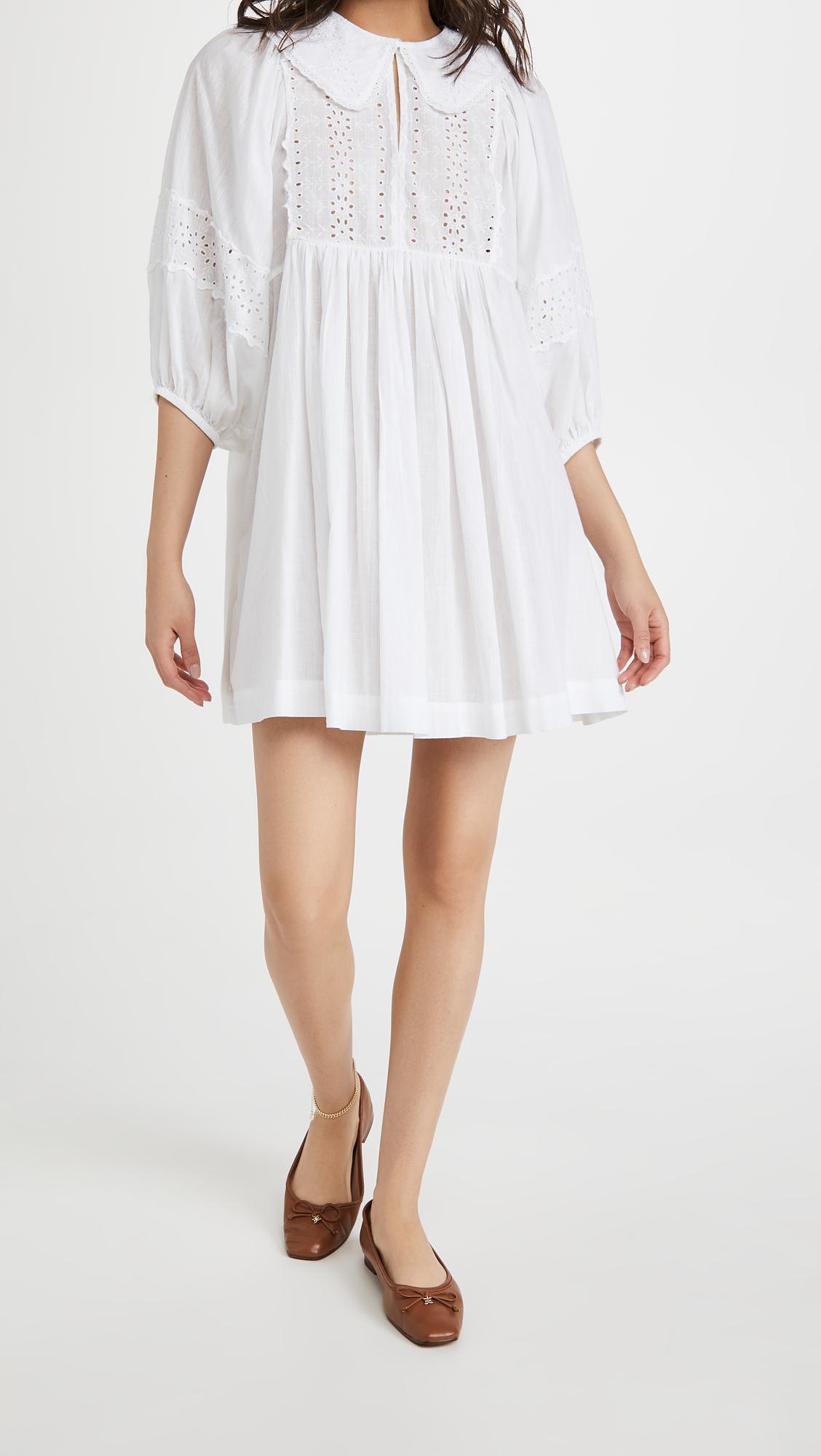 byTimo Cotton Slub Collar Mini Dress