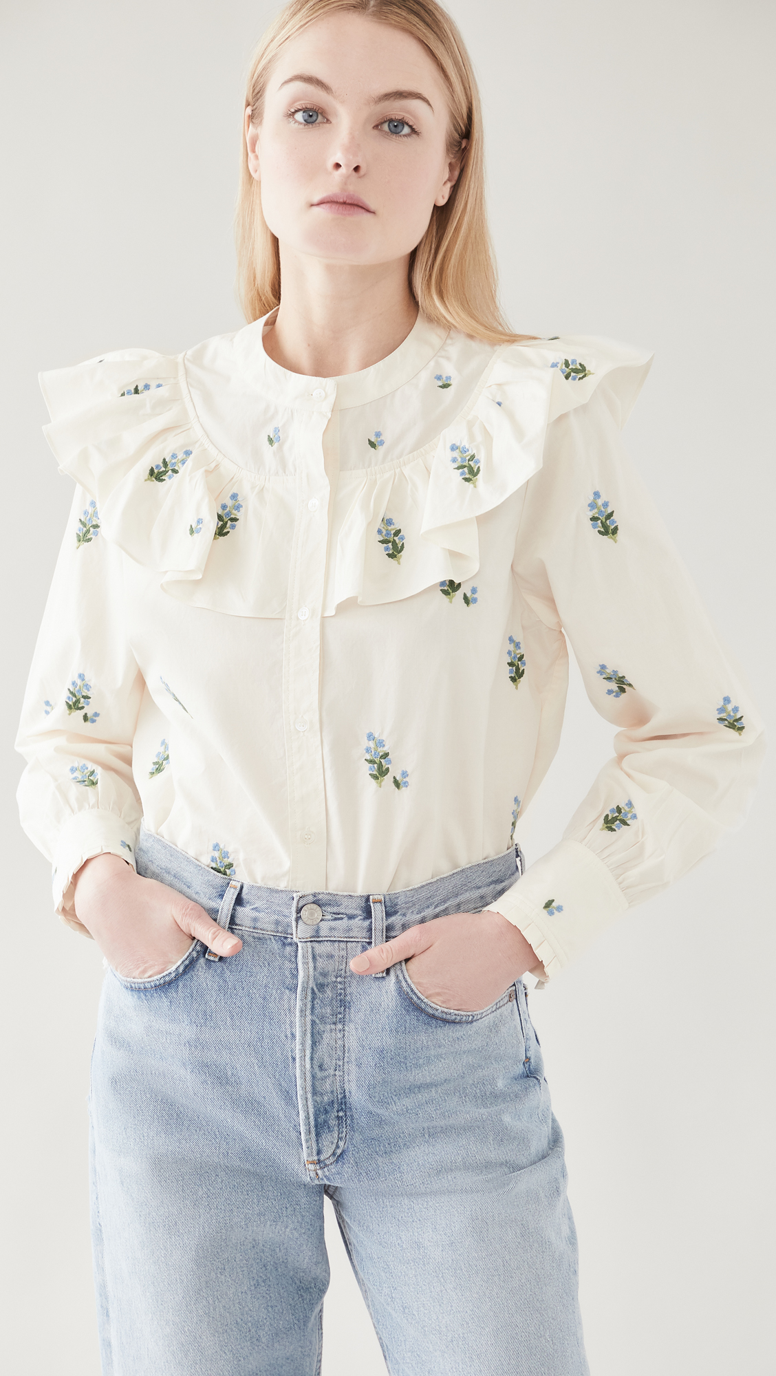 Citizens of Humanity Evie Embroidered Blouse