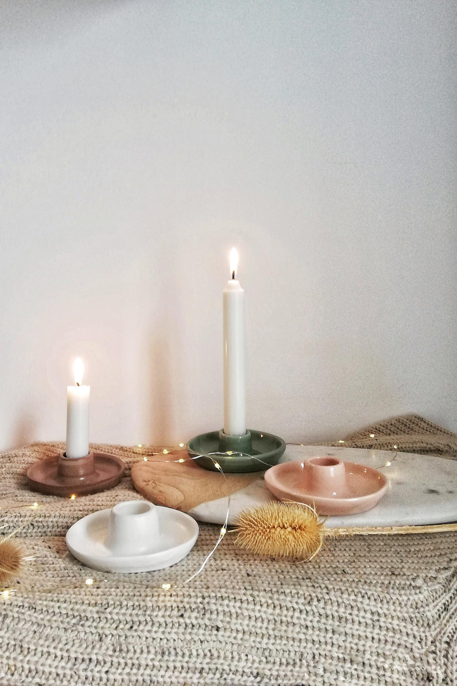 Handcrafted ceramic candlestick Door Candle Holders for Long Taper Candles