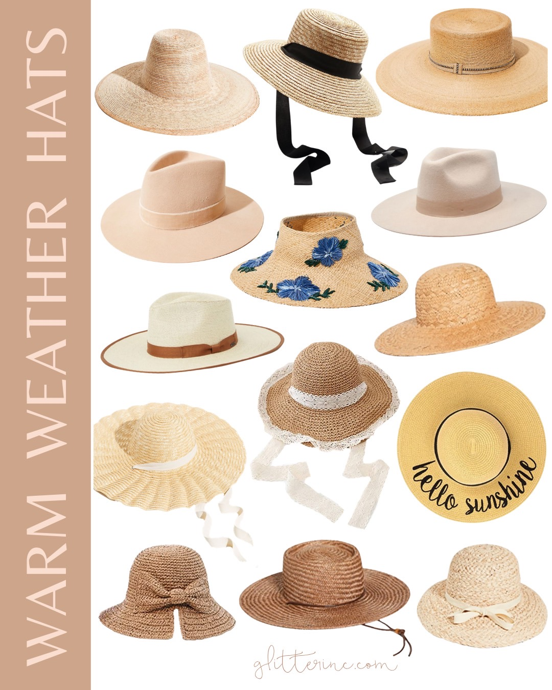 collage of The Best of Summer Hats