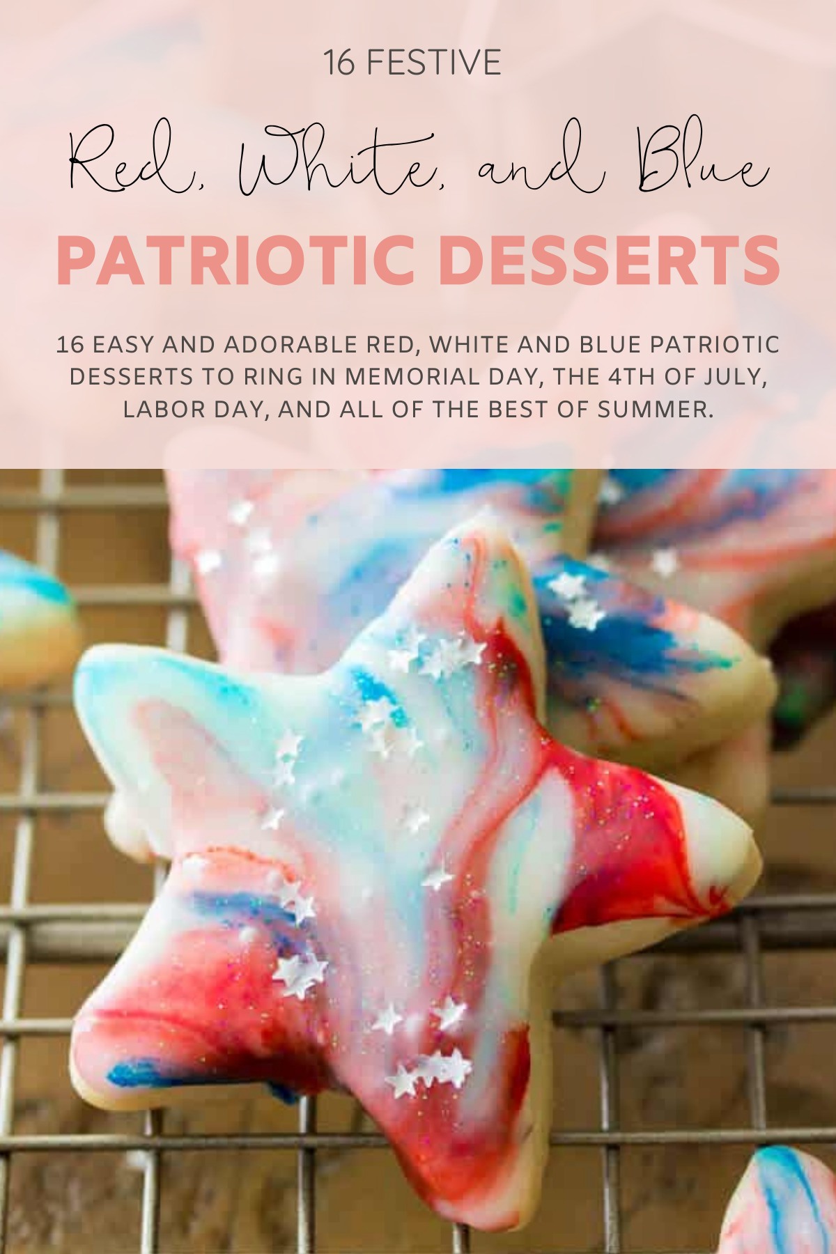 16 easy and adorable Red, White and Blue Patriotic Recipes ... the best festive food, treats, drinks, and more, to ring in Memorial Day, the 4th of July, and all of the best of summer. | Red, White, and Blue Dessert Mini Fruit Pizzas | @glitterinclexi | GLITTERINC.COM